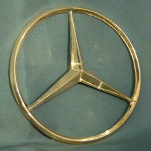 Réz, fémöntés, Mercedes jel öntés, veterán autók restaurálása