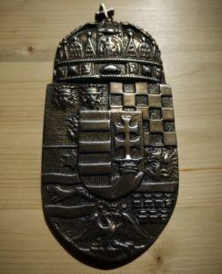 Magyarország címere bronzból, egyedi öntés